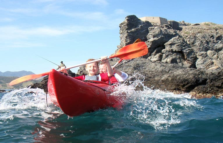 Sea kayaking in the Mediteranean Pyrenees
