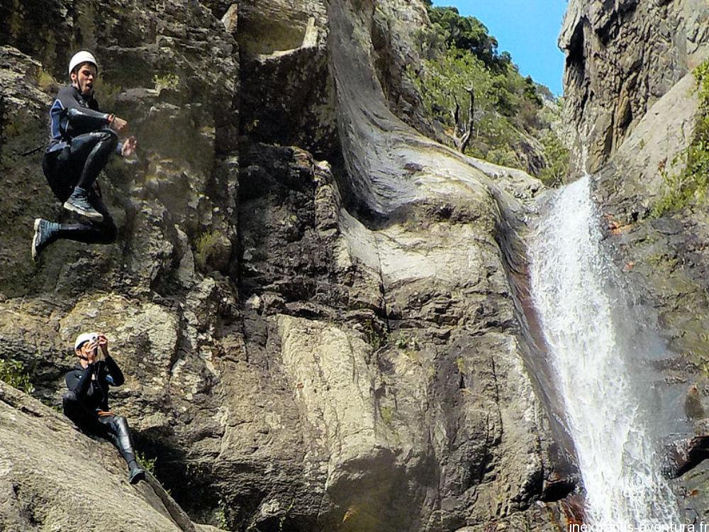 Canyoning in Gourg des Anelles in Ceret - Pyrenees Orientales - South France
