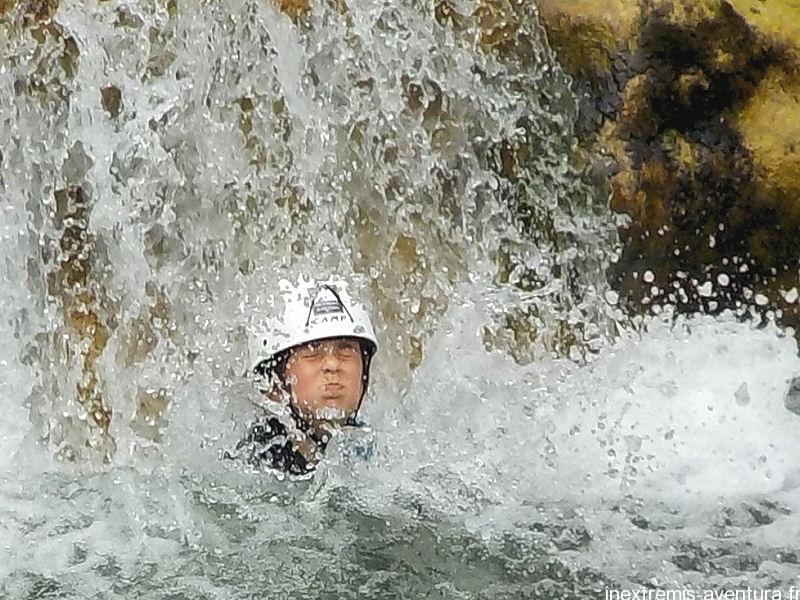 Family canyoning in Gorges de Galamus- Saint Paul de Fenouillet - Pyrenees Orientales - South France