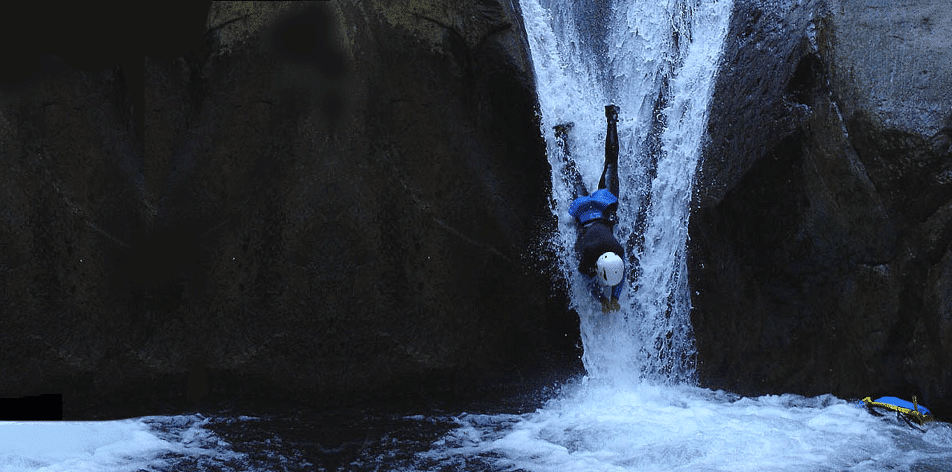 Sport Canyoning in the Llech - Pyrenees - Orientales - South France