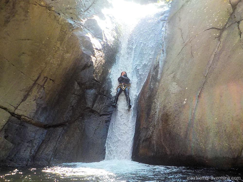 Sport Canyoning in Gorges du Llech in Prades- Pyrenees Orientales - South France